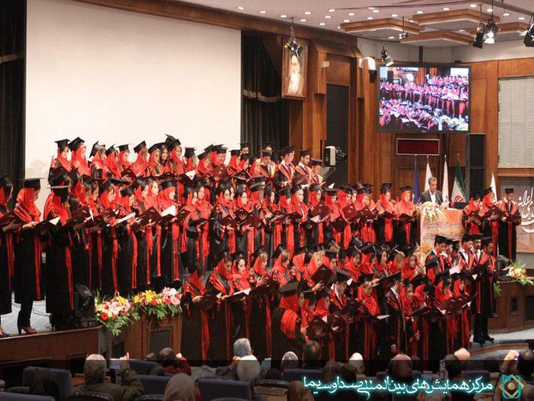 فارغ التحصیلی دانش آموختگان پزشکی دانشگاه آزاد